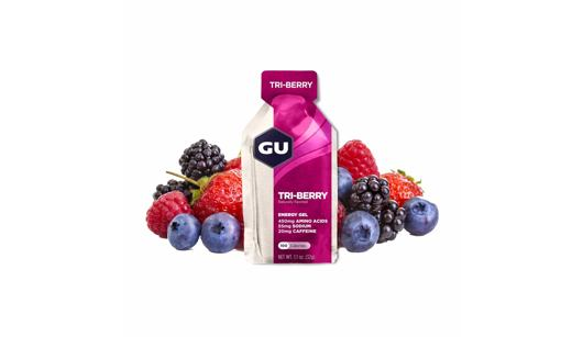 GU Energy Gel - Tri-berry - 32g - expirace 04/21
